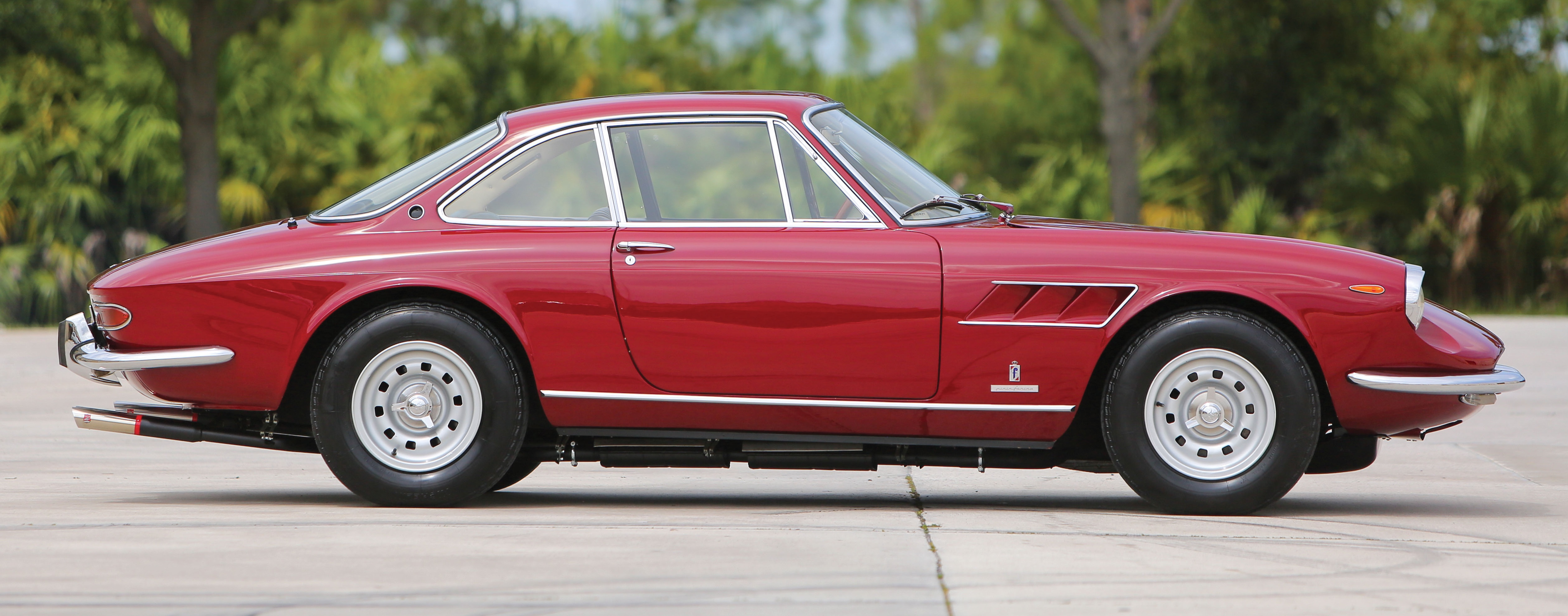 1967 Ferrari 330 GTC among special treats crossing the block at Hilton Head Island | Auctions America photo by Ryan Merrill