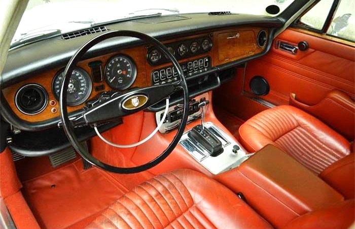 The Jaguar's interior has a luscious patina