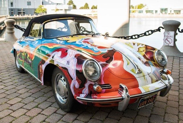 Janis Joplin's 1965 Porsche 356C 1600 cabriolet will cross the block at RM Sotheby's NYC sale in December | RM Sotheby's photo by Darin Schnabel