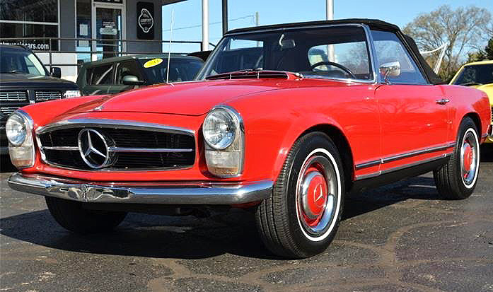This 1967 Mercedes-Benz 230SL is equipped with the desirable four-speed manual transmission