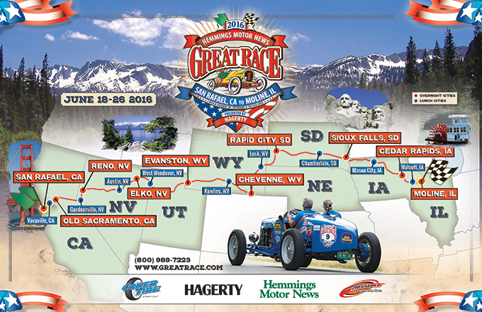 The Great Race sets route for 2016 competition