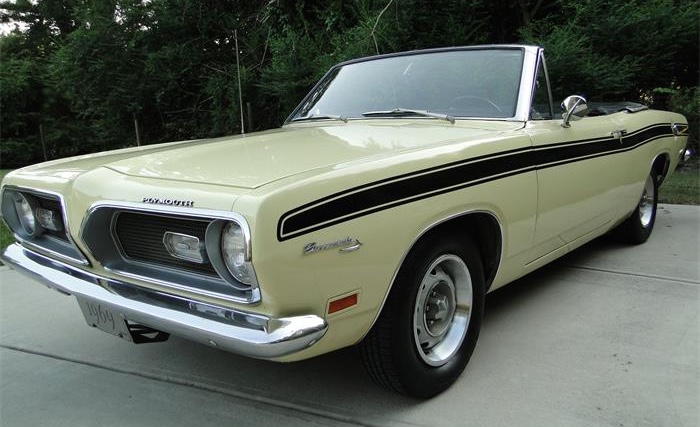$18,500 is the asking price for this 1969 Plymouth Barracuda convertible
