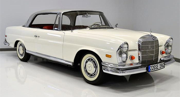 The 1962 Mercedes-Benz 220SE coupe is a stylish but solid collector car