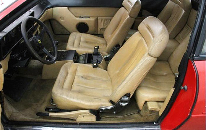 The Ferrari Mondial's interior looks to be in decent condition
