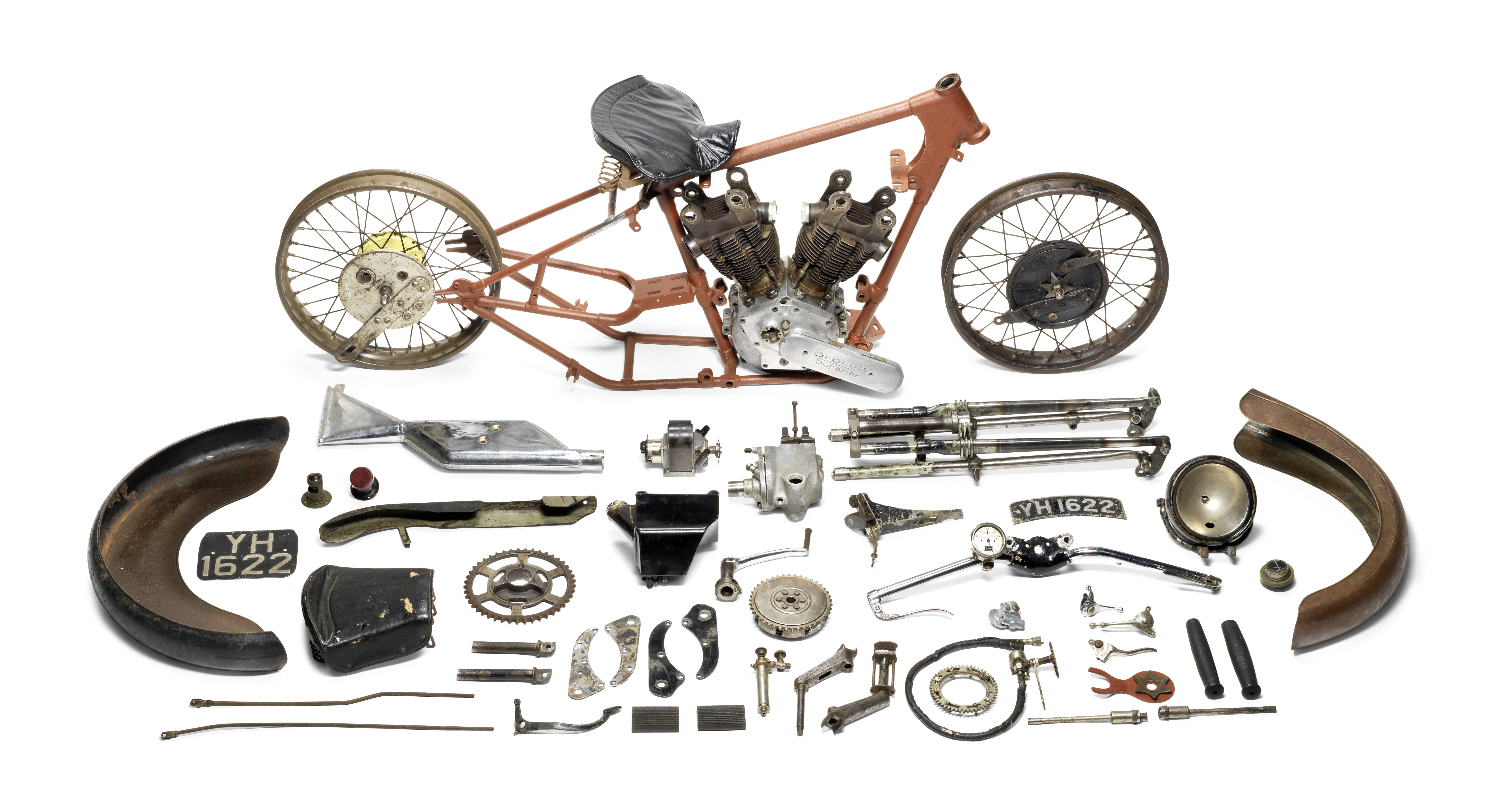 Some assembly required, yet this 1927 Brough went for more than $400,000 at auction | Bonhams photos