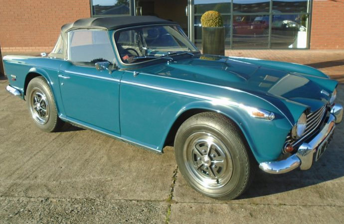 First TR5 offered for sale at British classic car show