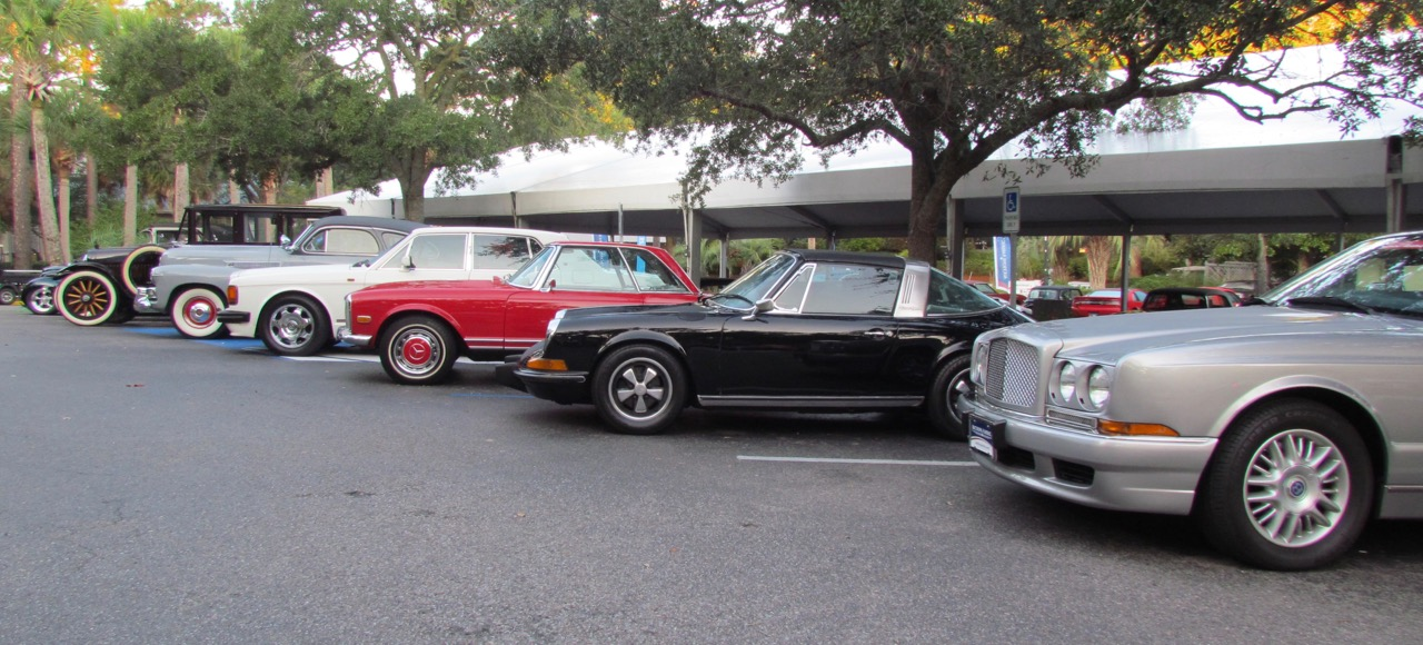 Some of the cars awaiting the start of bidding at Auctions America's Hilton Head Island sale   Larry Edsall photos