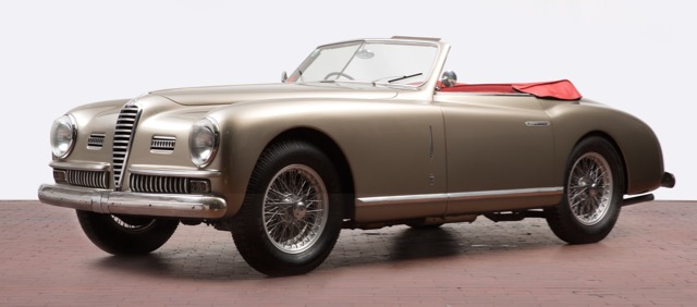 One of only 23 short-wheelbase Alfa Romeo 6C 2500 Pininfarina cabriolets for 1950 headed to auction | Auctionata photos