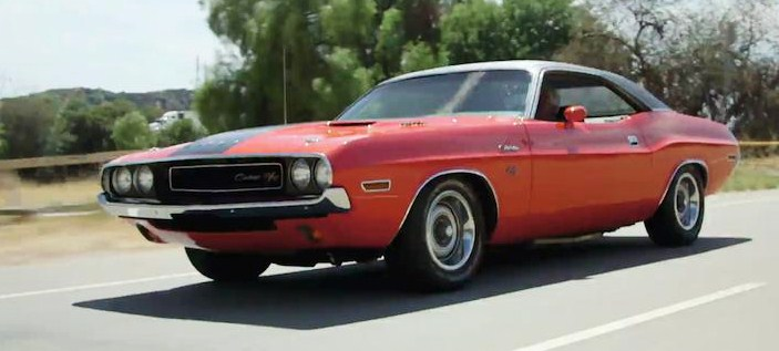 Leno drove this 1971 Dodge Challenger R/T in the show's opening sequence