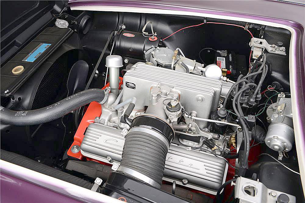The Corvette is powered by a fuel-injected 283 cid V8