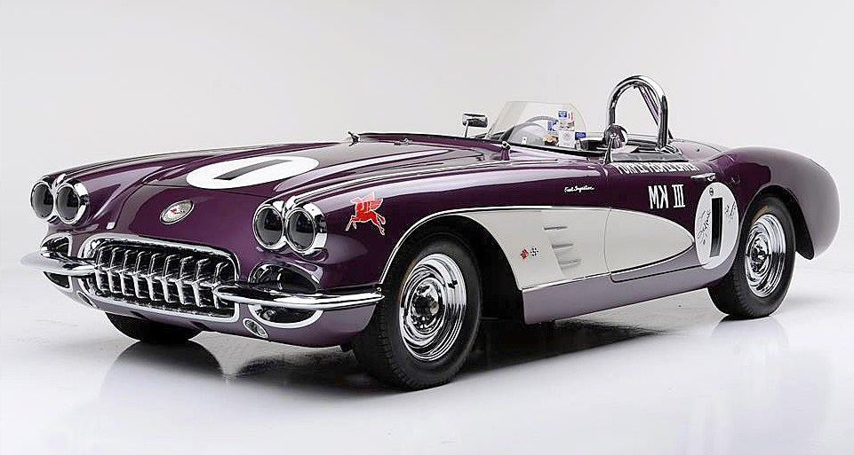 The champion 'Purple People Eater' Corvette will be auctioned by Barrett-Jackson in January | Barrett-Jackson photos