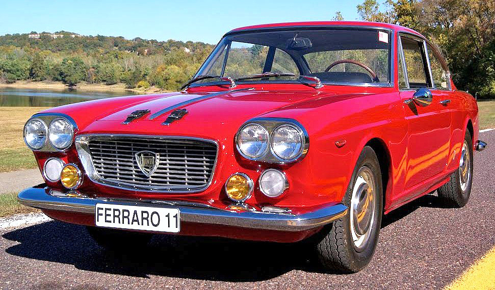 The 1961 Lancia Flavia wears a body designed by Pininfarina