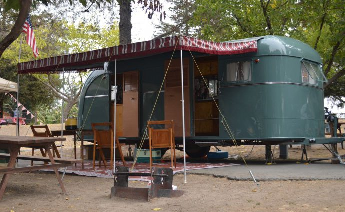 Vintage travel trailers stay put for California museum exhibit