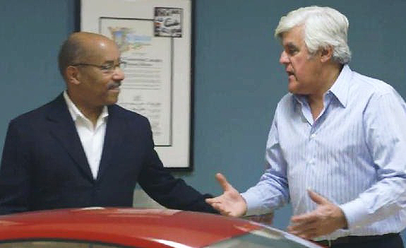 Leno with GM design chief Ed Wellburn