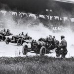 1911 Indy 500 first turn