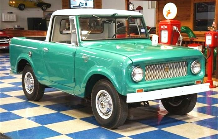 The '64 Scout 4X4 would be a fun off-roader, as long as you didn't scratch its shiny paint job