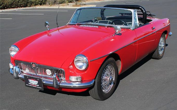 The 1965 MGB would be an affordable entry into the world of classic sports cars