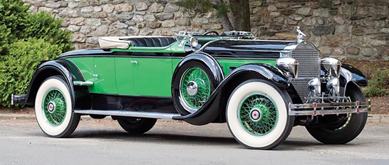 From Pebble Beach to Leake auction block: Rollston-bodied 1929 Packard | Leake Auction Co. photos