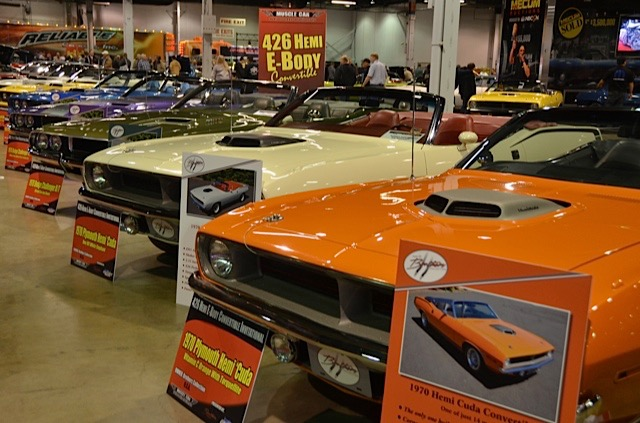 Just a few of the 500 cars on display at the Muscle Car and Corvette Nationals | Larry Nutson photos