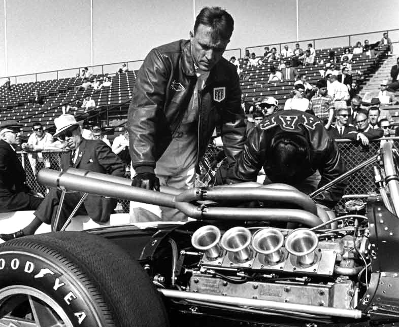 Dan Gurney at the Indianapolis 500 with an AAR Eagle V8 | All American Racers