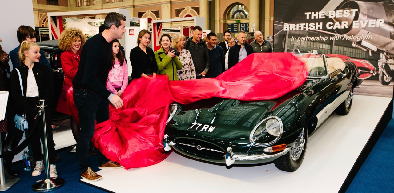 E-type unveiled as Britain's best car ever