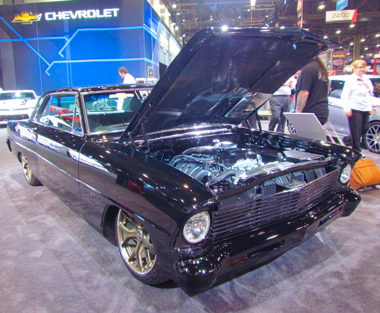 This 1967 Chevrolet Nova SS carries the new 2.0-liter turbocharged four-cylinder engine from the 2016 Camaro | Larry Edsall photos