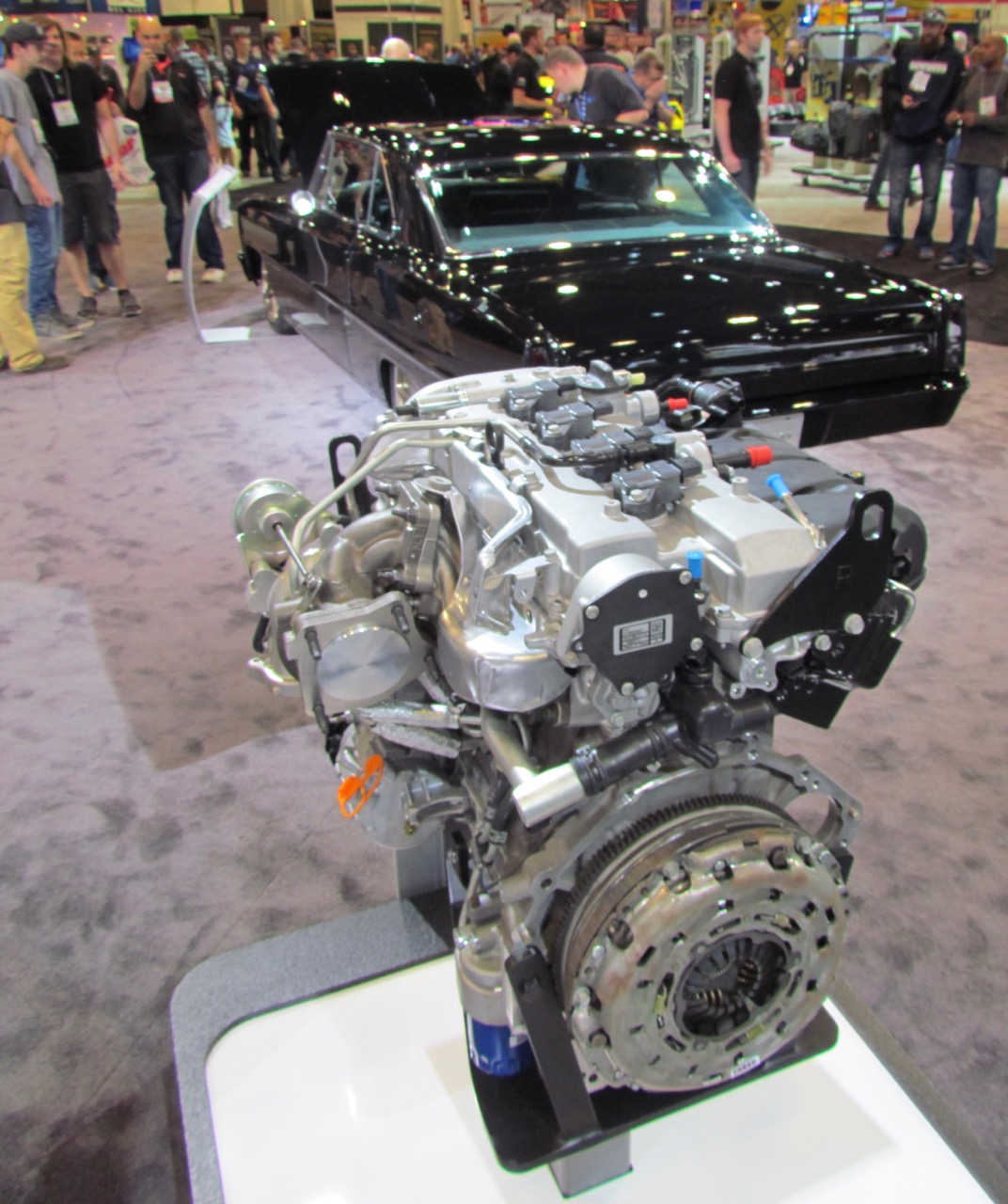 The engine and the car