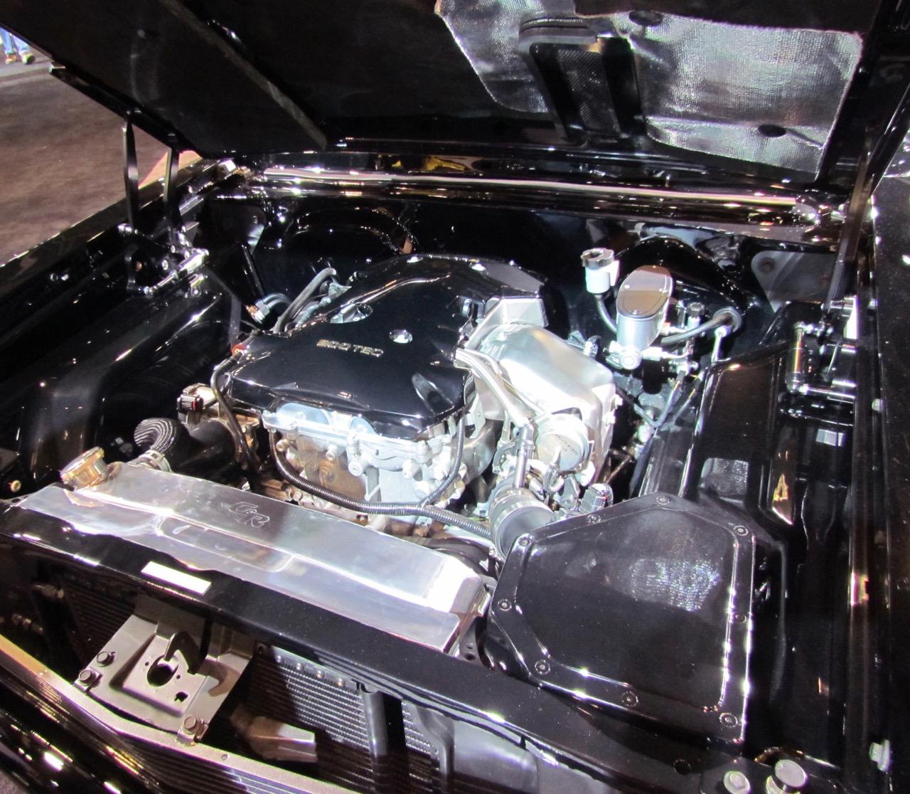 The turbo four fits easily into Nova engine bay