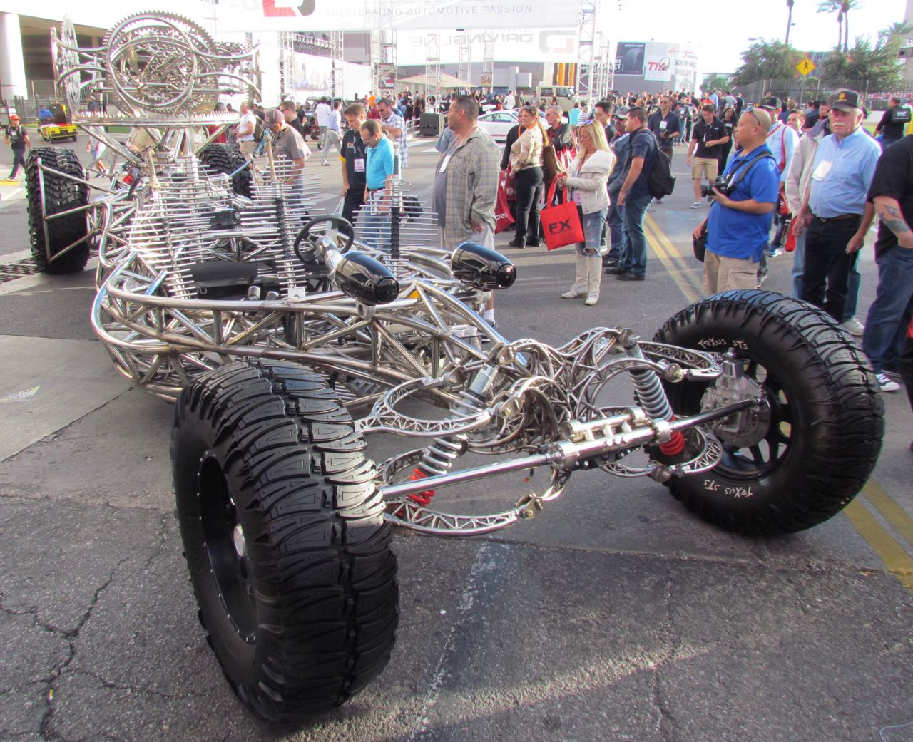 Stretching more than 27 feet in length, the Valerian Steel is literally a big attraction at the SEMA Show | Larry Edsall photos