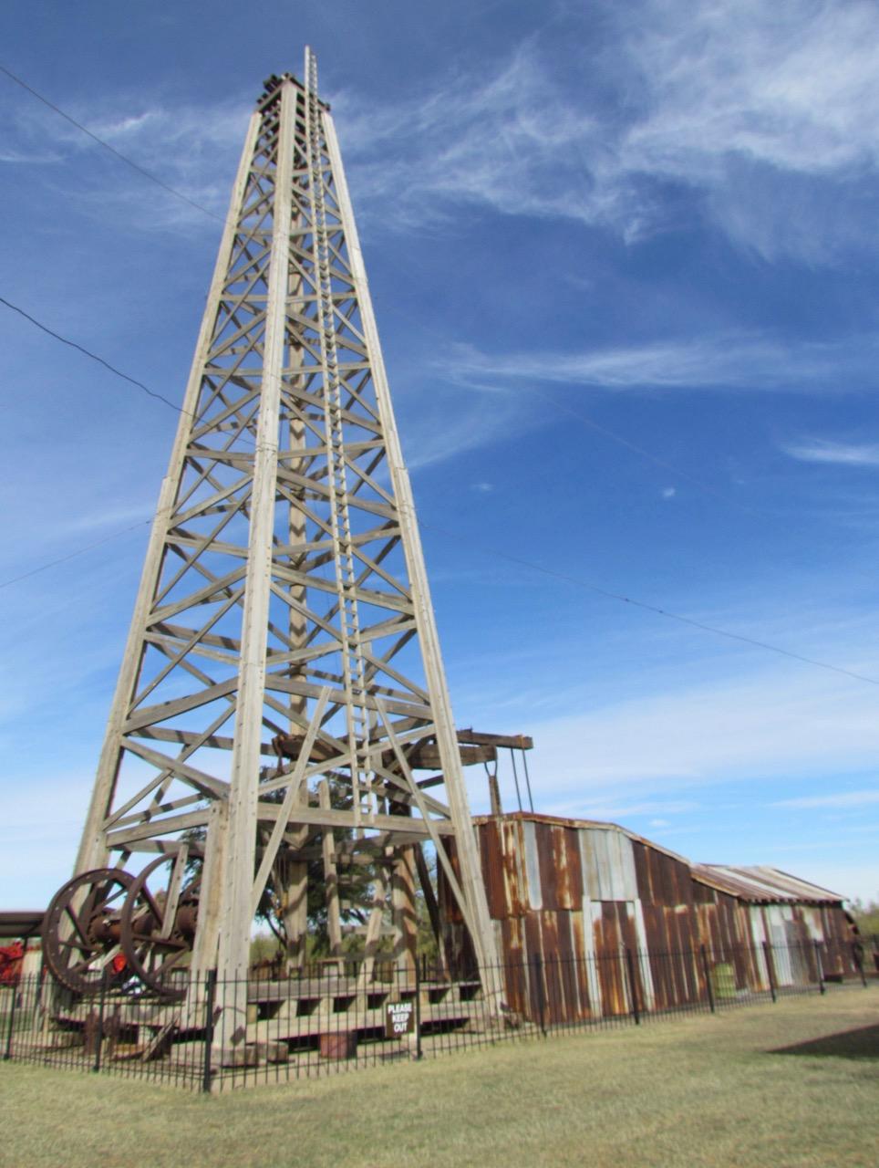 Santa Rita No. 2 rig has been restored at the museum