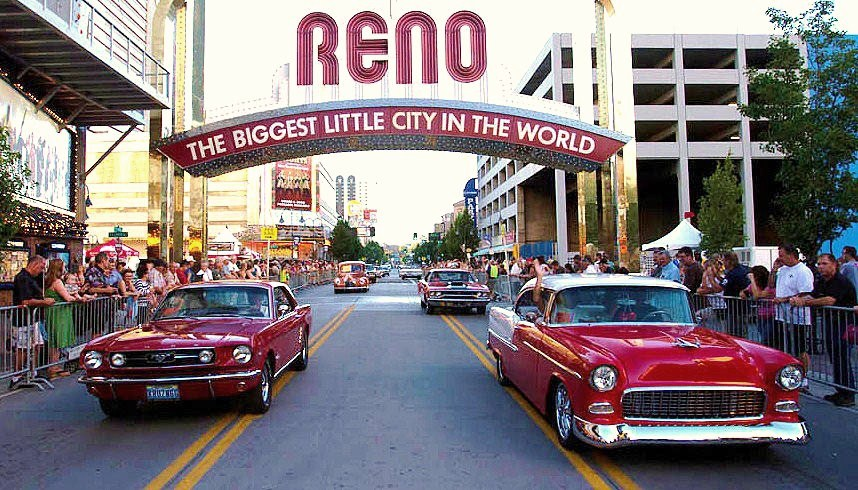 The Hot August Nights collector car parade through downtown Reno | Hot August Nights photos