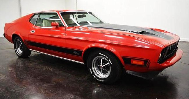 The restored 1973 Ford Mustang Mach 1 looks to be a bargain for an up-and-coming model