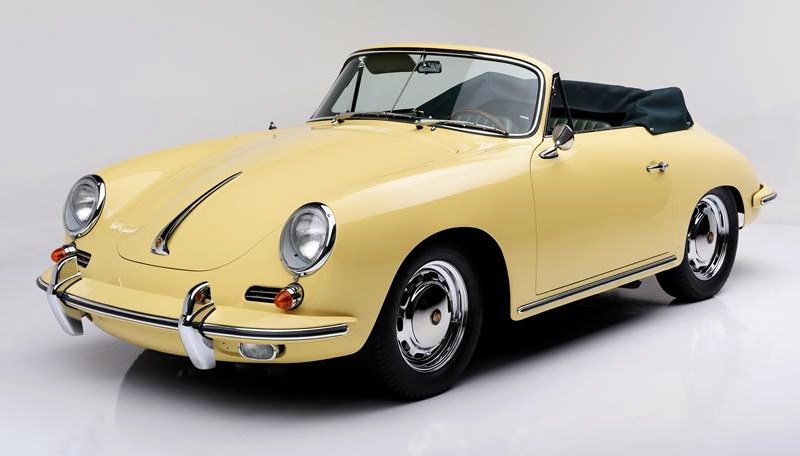 The 1965 Porsche 356SC cabriolet is said to be completely restored