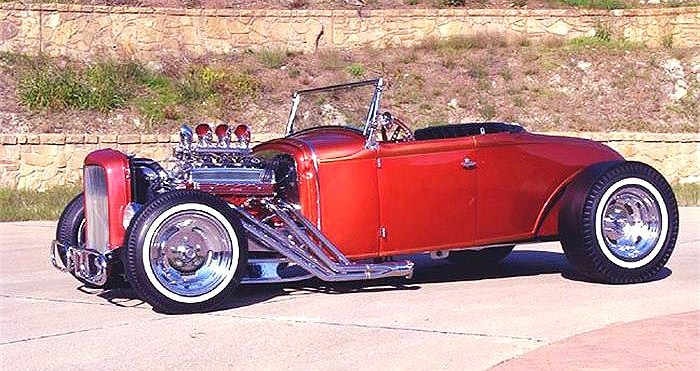 The 1931 Ford roadster wears 78 coats of custom lacquer paint, the seller says