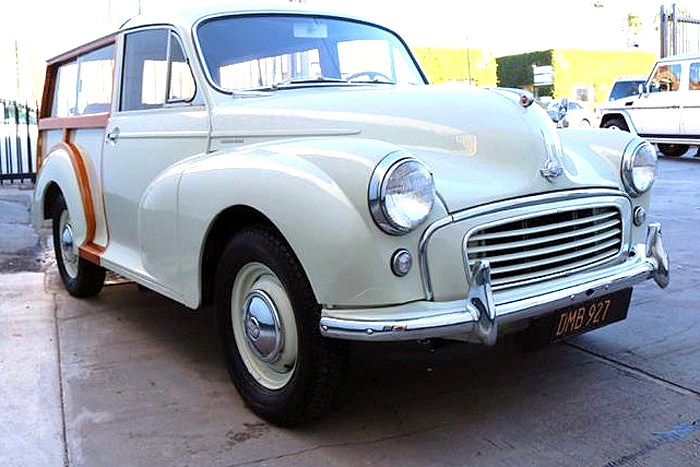 The 1957 Morris Minor woodie is said to be in solid, good-running original condition