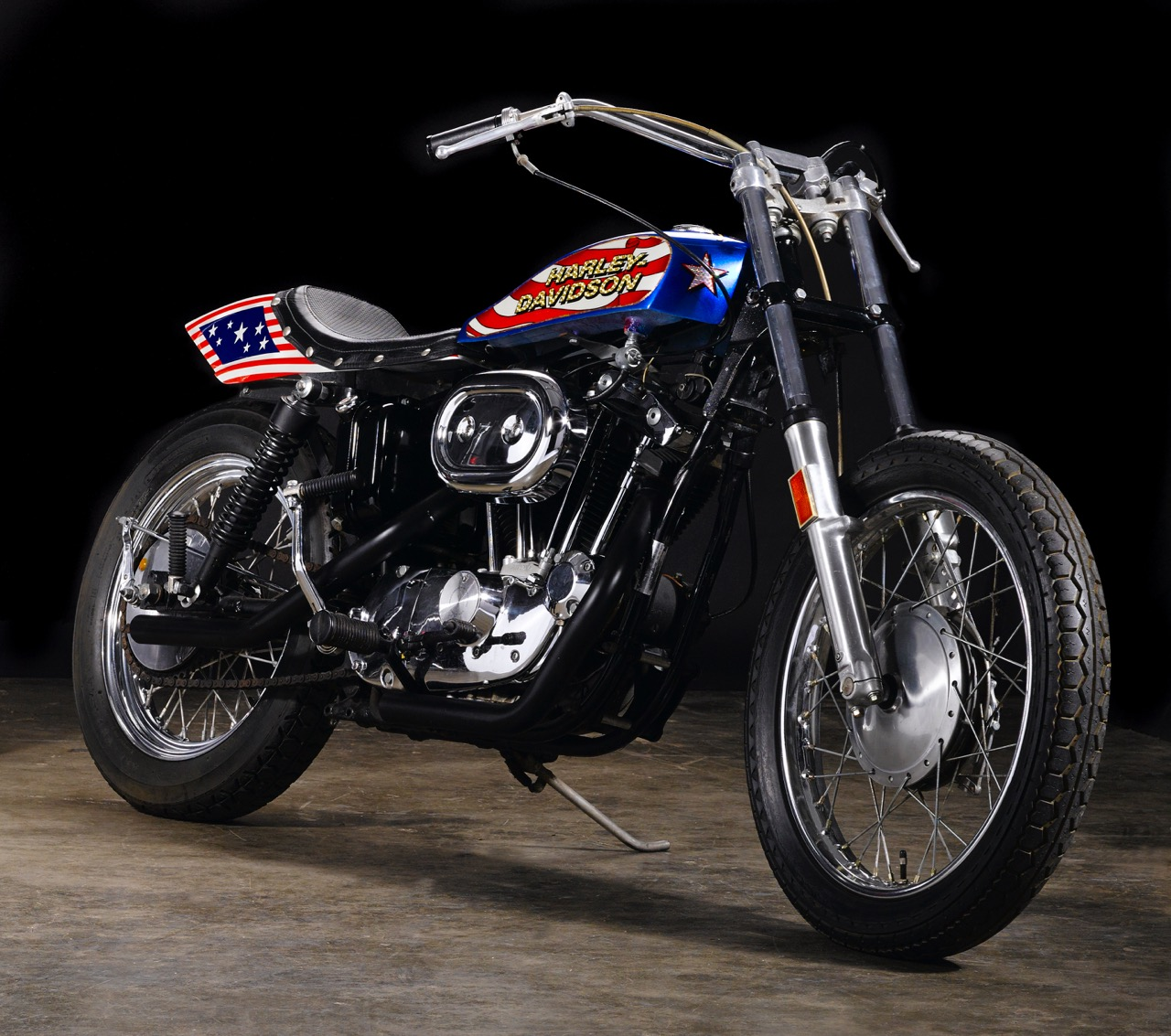 Even Knievel rides this 1976 Harley in the Viva Knievel movie | Bonhams photos