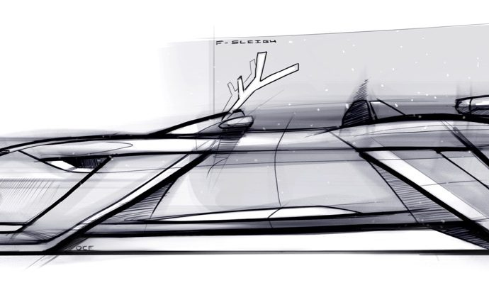 Jaguar Land Rover design F-Sleigh concept for Santa