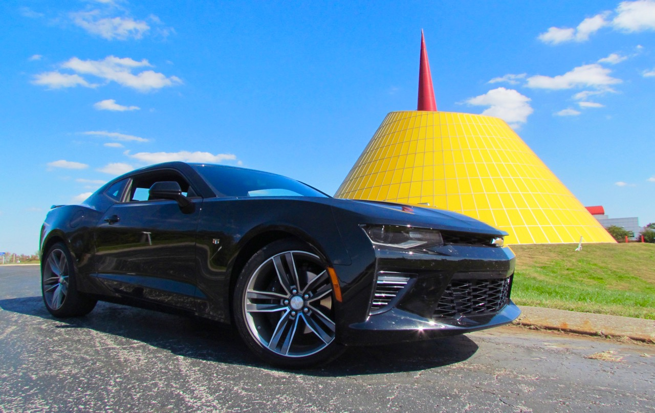 The new Chevrolet Camaro SS makes a pit stop at the National Corvette Museum