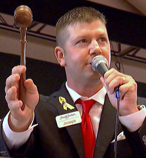 Barrett-Jackson's new head auctioneer Joseph Mast