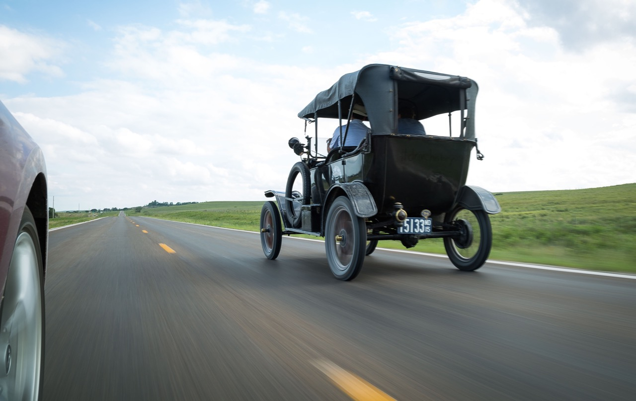 The HVA's Model T crosses the Flint Hills of Kansas |Historic Vehicle Association photos