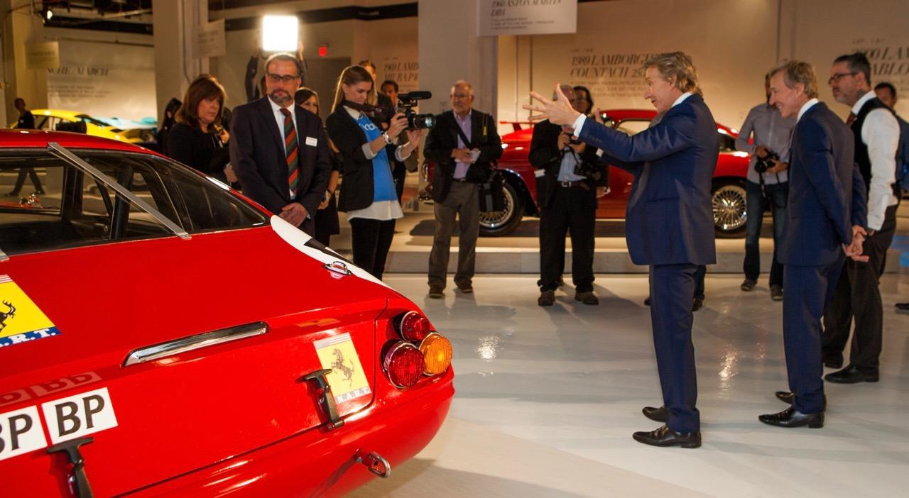 Keno Brothers discuss a Ferrari during auction preview | Keno photo by Renato Zacchia