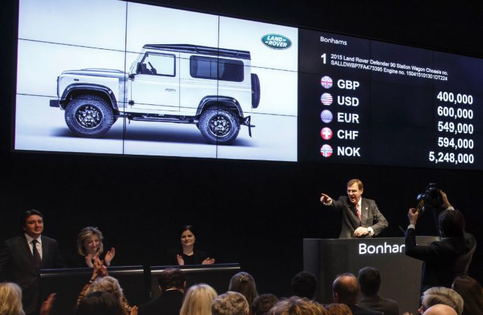 Bonhams ends year with single-vehicle auction for charity
