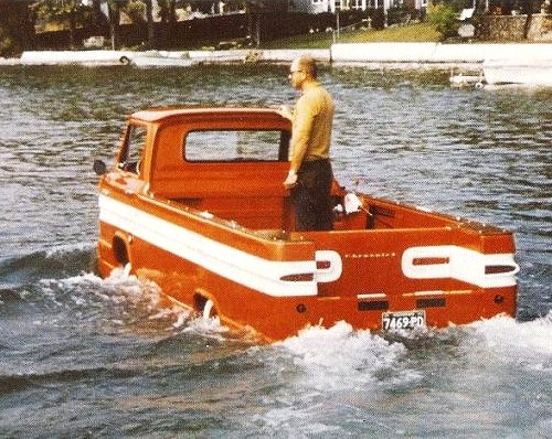 Unique Corvair truck/boat prototype going to Mecum's Kissimmee sale (or does this make it a sail?)