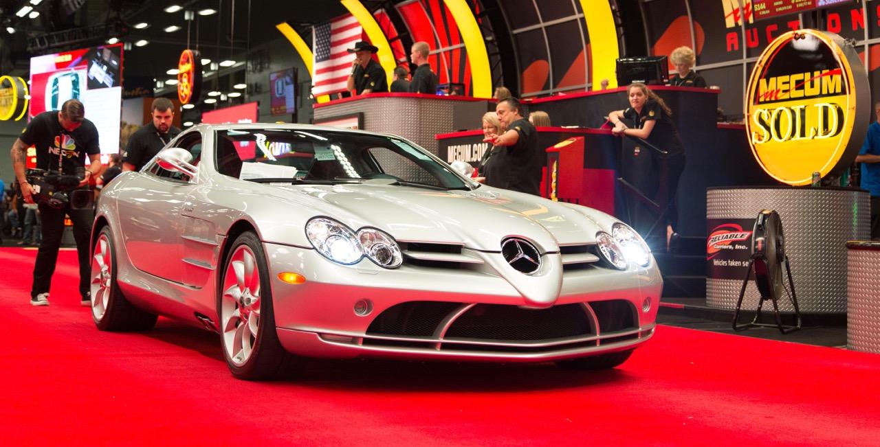 2006 Mercedes SLR McLaren Silver Arrow brings $245,000