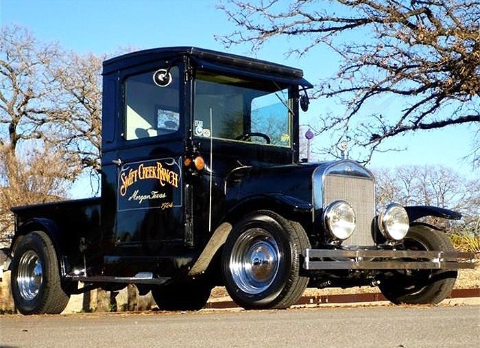 The 1924 Ford 'Tall T' custom pickup was created from a stock-body Model T truck