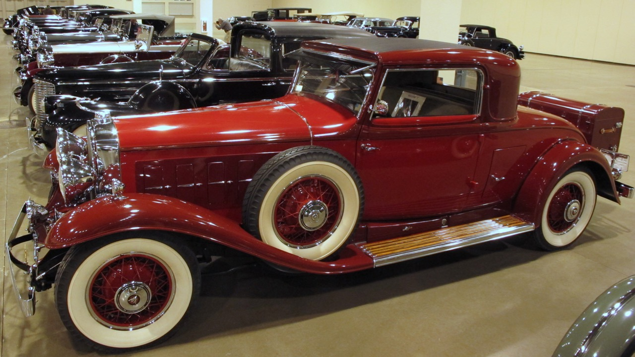 1930 Cadillac coupe is part of a line of V16-powered cars at the CCCA gathering in Novi, Michigan   Kevin A. Wilson photos