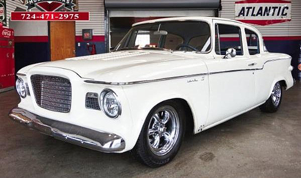 The little Studebaker Lark looks very clean with a nicely aggressive stance