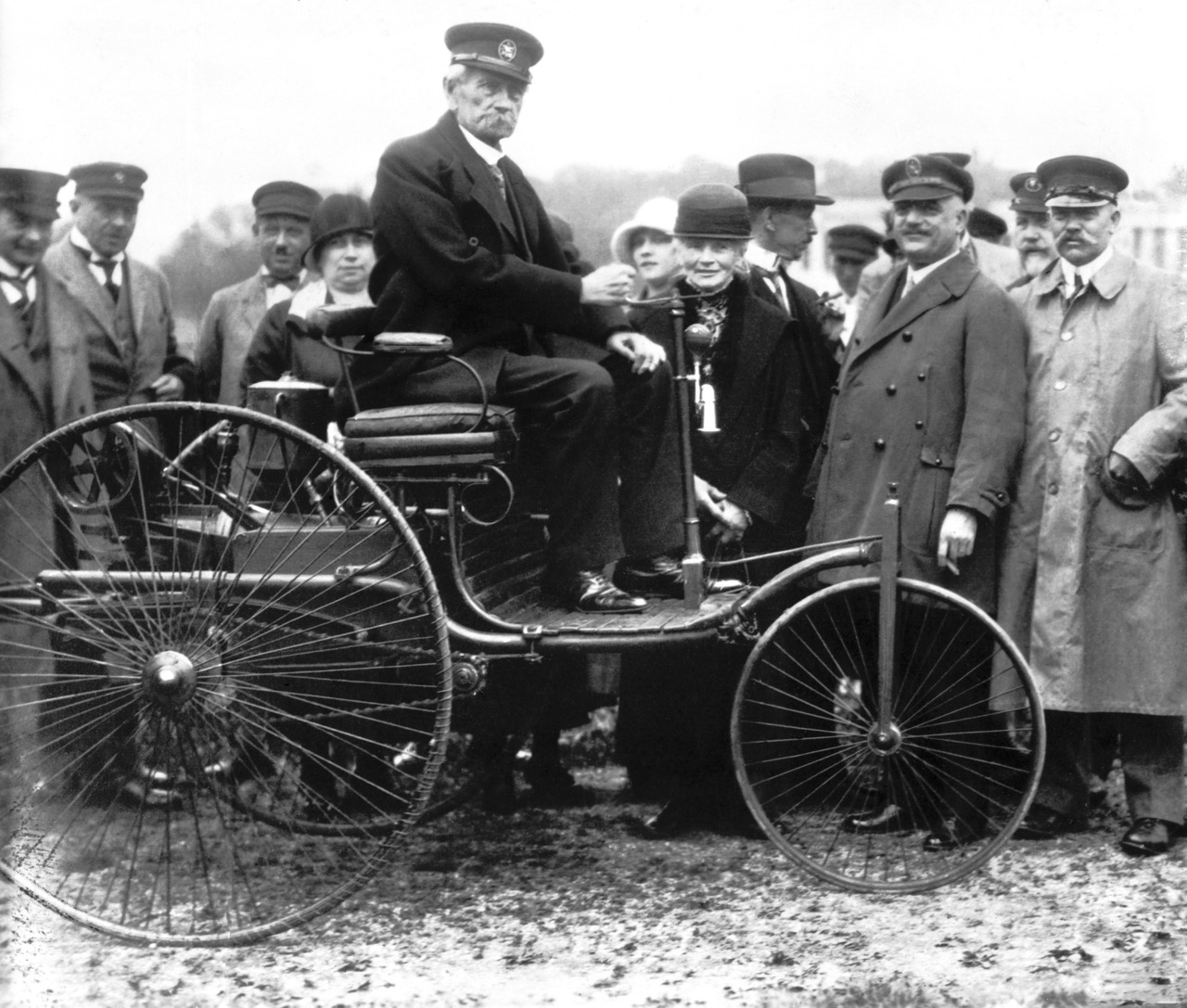 Carl Benz and his three-wheeler