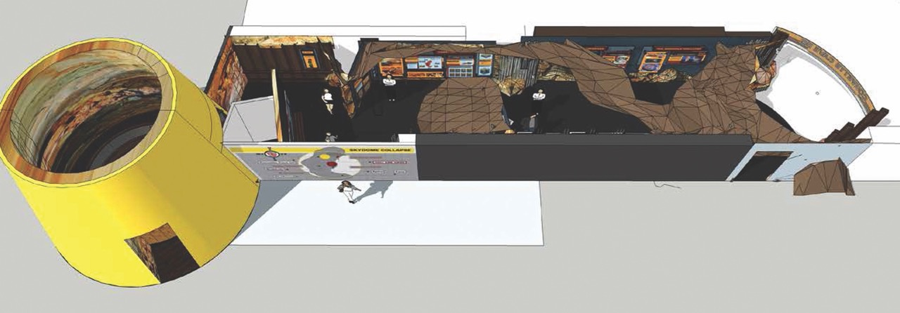 Artist's rendering of the new Cave In! Experience at the National Corvette Museum's Skydome | NCM photos