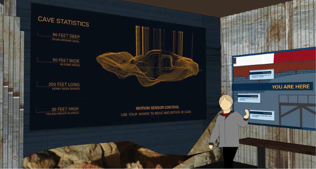 Exhibits explain karst geology